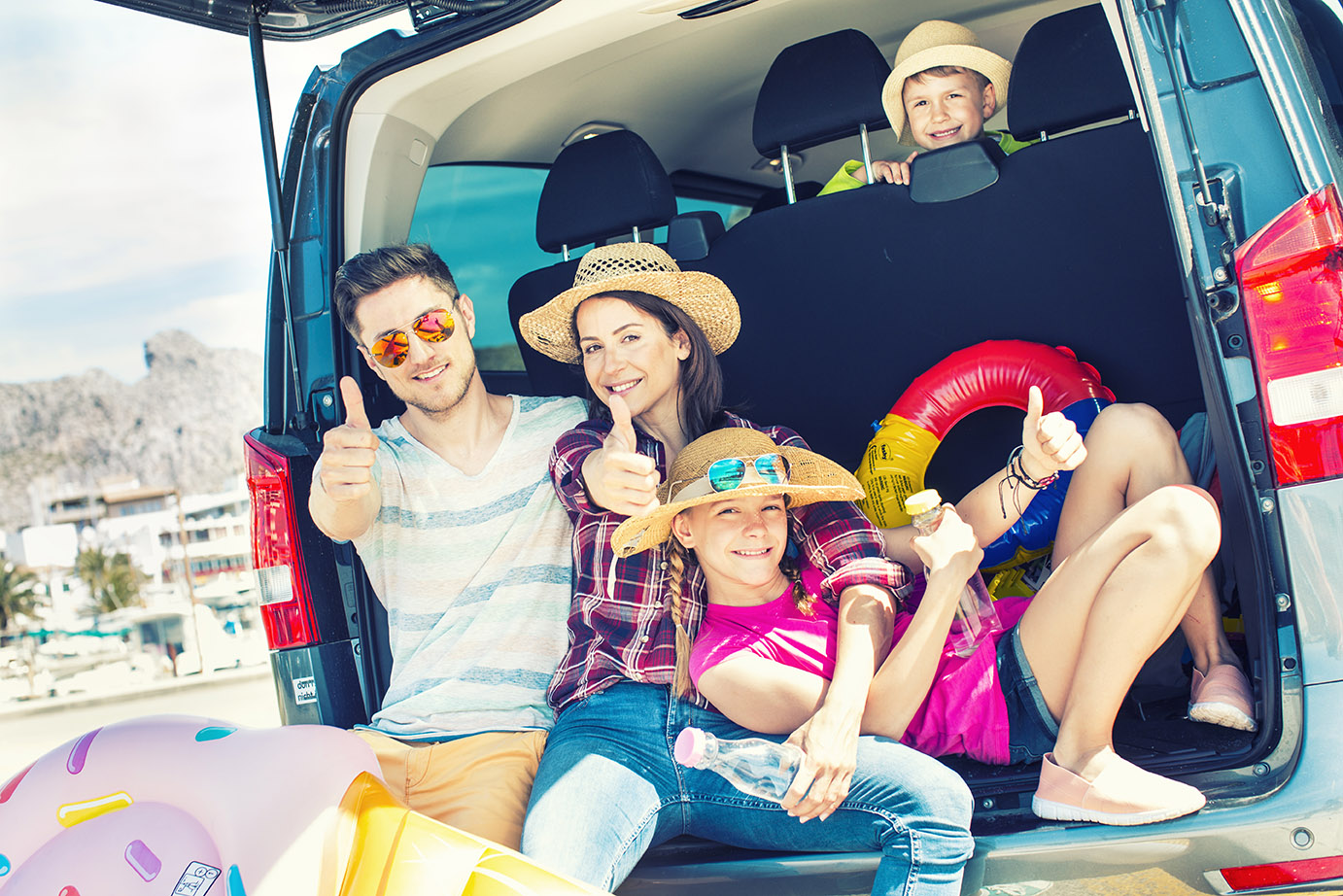family holiday car trip from lax van rental